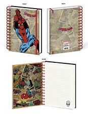 AMAZING SPIDER-MAN RETRO SPIRAL NOTEBOOK MARVEL PETER PARKER SUPERHERO COMICBOOK