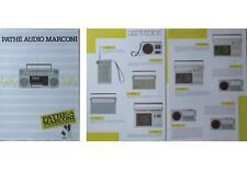 BROCHURE AUDIO PATHE MARCONI - 1985 - RADIO WALKMAN BOOMBOX
