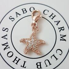 Thomas Sabo rosa estrella de mar charm club pulsera cadena colgante 925 plata Starfish
