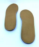 Powerstep Signature Premium Leather Full Length Orthotics Heel Support Insoles