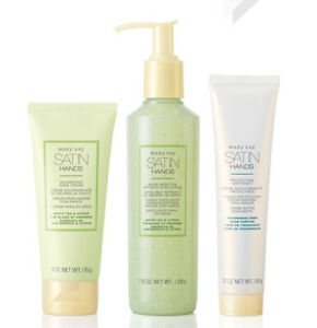 Mary Kay Satin Hands Pampering set WhiteTea&Citrus 3PcsHand Softener Scrub Cream