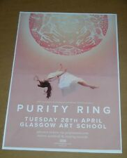 PURITY RING - rare live music show tour concert / gig poster - april 2015