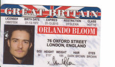 Orlando Bloom Legolas in The Lord of the Rings Elf actor card Drivers License