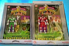 Bandai Power Rangers AUTO MORPHIN Power Rangers GREEN & RED Action Figure SET