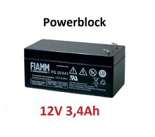 FIAMM 3.4-12 AGM Akku 12Volt 3,4Ah Badewannenlifter NEW Beluga SOLAR FG20341 PC