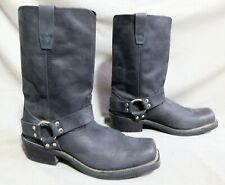 MENS DURANGO BLACK LEATHER ENGINEER MOTORCYCLE BOOTS SIZE 10 M