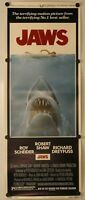 "Jaws 1975 RARE Original Insert Movie Poster 14"" x 36"""