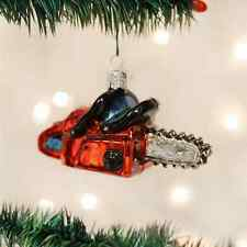 *Chainsaw* Tree Tools Lumber [32162] Old World Christmas Glass Ornament - NEW