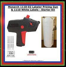 Genuine Monarch 1110-02 Labeler Pricing Gun & 1110 White Labels - Starter Kit