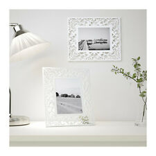 """IKEA FROSAKULL 5x7"""" Decorative Steel Picture Photo Frame in White Stand or Hang"""