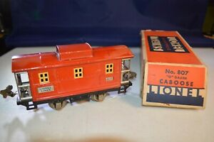 Lionel Pre-War # 807 Red/Red Caboose very good