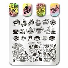 BORN PRETTY  Kunst Nagel Stempel Schablone Nail Art Stamp Cake Afternoon Tea