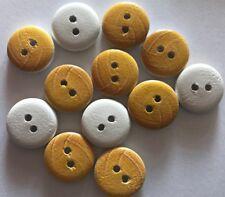 12 Netball/Vollybal Balls Wood Buttons -13mm- Sewing,Craft,Scrapbooking,Quilting