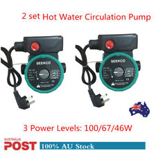 """1-2PC 3 Speed 100W Hot Water Heating System Solar Circulation Booster Pump 1.5"""""""