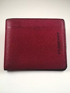 MINT $420!!! Burberry wallet bifold Red Black ID Slot 100% Authentic