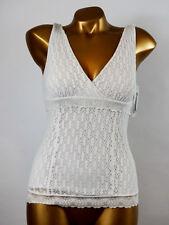 ARIANNE - TAILLE L - Haut Caraco Crochet Dentelle 5888, Coloris : Blanc