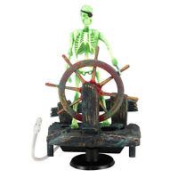 Fish Tank Aquarium Skeleton on Wheel Action-Air Aquariums Ornament Fashion