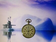 LEONIDAS TAG HEUER ARGENTO 800 2.wk Military kriesmarine U-Boat Cronografo 1935