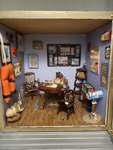 Artist-made Miniature Nautical Sea Room Dollhouse Diorama