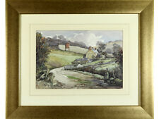 Michael Crawley, original watercolour signed - Derbyshire Landscape
