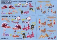 1/72 Warbird Decals-  B17s Memphis Belle, Sally-B, C-Cup, Baby Ruth, Gee Wiz, Mo