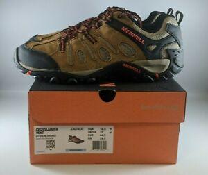 Merrell Crosslander Vent Mens Hiking Shoes Size 10.5 Otter/Orange J362583C