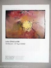 Jules Olitski Art Gallery Exhibit PRINT AD - 2002
