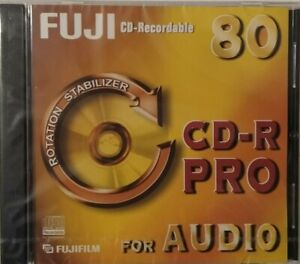 Fuji CD-R Pro 80 - Music CDR Digital Audio Blank Recordable Disc - New & Sealed