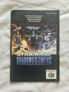 STAR WARS SHADOWS OF THE EMPIRE Nintendo 64 N64 PAL version original manual