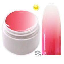 Trendfarbe Thermo Farbgel UV Gel Farbwechsel Rot - Weiß  5ml TG-11