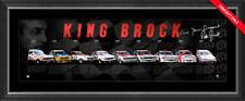 KING BROCK - PETER BROCK SIGNED L/E BATHURST CHAMPIONS PRINT FRAMED + COA