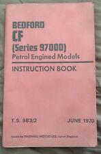 Bedford CF Van Owners Manual Instruction Book Handbook June 1970 FREE UK POST