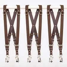 Dual Double Multi Camera Strap Harness Leather, Made in Australia, Free Shipping
