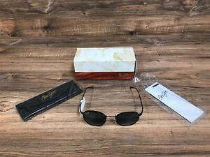 NEW Maui Jim Grey Nautilus Black Matte frame Sunglasses Hawaii 544-2M With Case