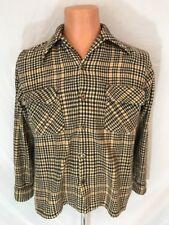 Vtg 1960s White Oak Sportswear Plaid Wool Blend Hunting Camping Field Shirt Sz M