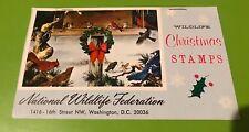 National Wildlife Federation 1963 Poinsettia Caribou Christmas 20 Stamps Vtg