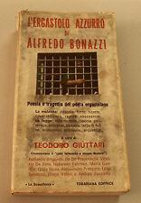 1971c = L'ERGASTOLO AZZURRO = ALFREDO BONAZZI.  TODARIANA EDITRICE. ETNA