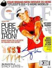 Stacey Lewis LPGA Signed Golf Magazine BECKETT BAS Authenticated psa Nice Auto!