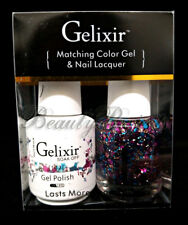 Gelixir Soak Off Gel Polish Color #142 LED/UV .5oz Matching Gel Duo
