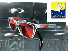 OAKLEY FROGSKINS 9013 A5 CRYSTAL CLEAR TORCH IRIDIUM Sunglass Sonnenbrille Sole