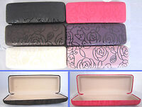 C11 Rectangular Reading Glasses Case/Rose Pattern Design/PVC Faux Leather Cover