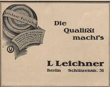BERLIN, Werbung 1924, Puder-Schminken-Fabrik L Leichner Fett-Puder Creme Parfum