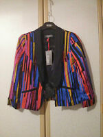 M&S Limited Collection Ladies Multicoloured Stripe Jacket Size 8 BNWT RRP £49.50