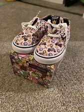 Vans Mario Kart Princess Peach Sneakers Girl's Kids Size 8
