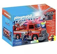 Playmobil Rescue Ladder Unit FIRE TRUCK Lights & Sounds CITY ACTION NEW