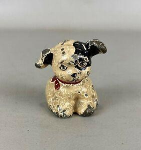 Antique Cast Iron Pup Dog Paperweight (A)