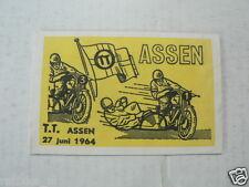 SUKERZAKJE SUGAR BAG DUTCH TT ASSEN 1964 SIDECAR MOTO GP WEGRACE ROADRACE