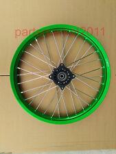 "Green Alloy 12MM Axle 32 Spokes 1.6 X 17"" Disc Front Rim Wheel Hub Pit Dirt Bike"