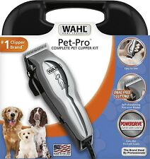 WAHL Pet Pro Thick Hair Complete Heavy Duty Dog Grooming Clipper 13 Pcs Kit USA