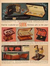 1958 Christmas AD SWANK Mens Jewelry Wallets Amigo the Burro Valet 111315